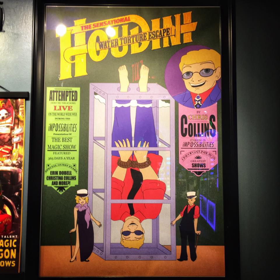 Houdini Water Torture Cell artwork